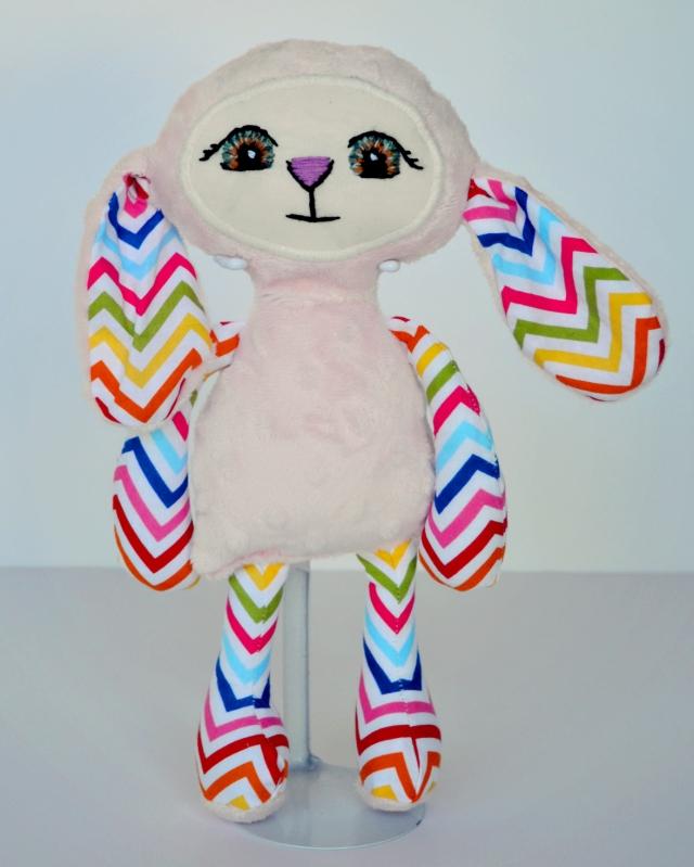 Pink Rainbow Penelope Bloom Bunny Standing