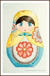 Matryoshka Doll Watercolor Painting