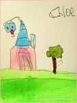 Chloe Watercolor Fantasy House