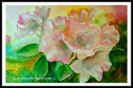 Rhododendron Watercolor Flowers