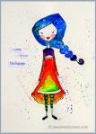 Watercolor Heart Girl