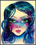 Watercolor Galaxy Girl