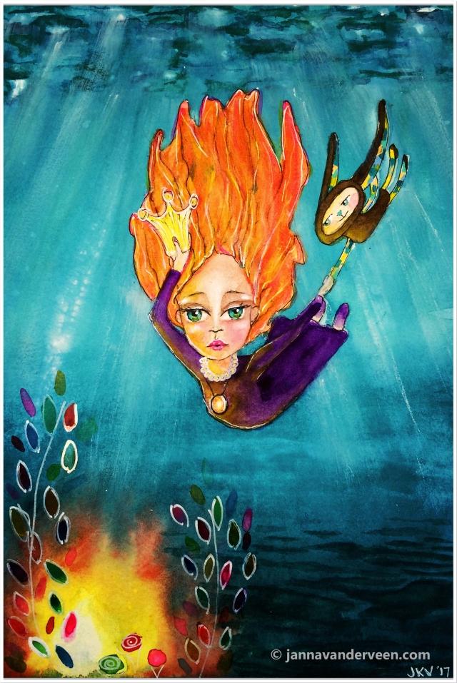 Watercolor Painting   Diving Deep