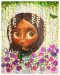 Purple Flower Girl4lightResized